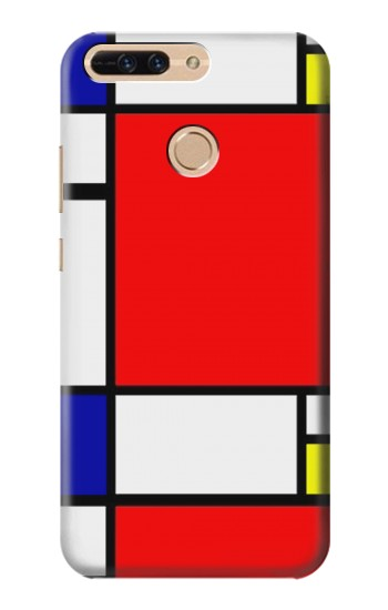 Printed Composition Red Blue Yellow Huawei Ascend MATE7 Case