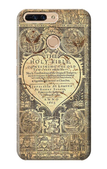 Printed Bible Page Huawei Ascend MATE7 Case