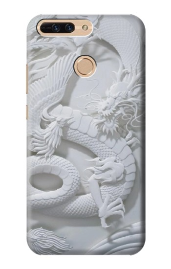 Printed Dragon Carving Huawei Ascend MATE7 Case
