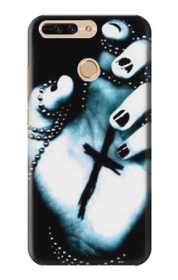 Printed Dark Gothic Cross Hand Huawei Ascend MATE7 Case