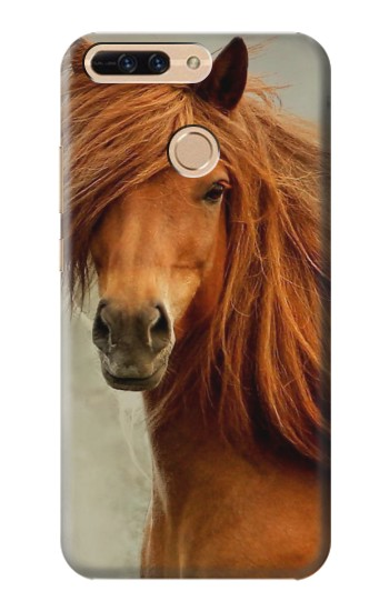 Printed Beautiful Brown Horse Huawei Ascend MATE7 Case