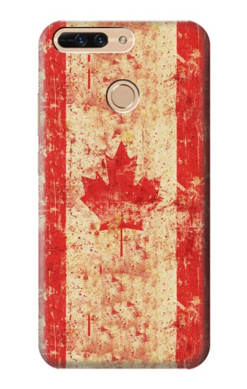 Printed Canada Flag Old Vintage Huawei Ascend MATE7 Case
