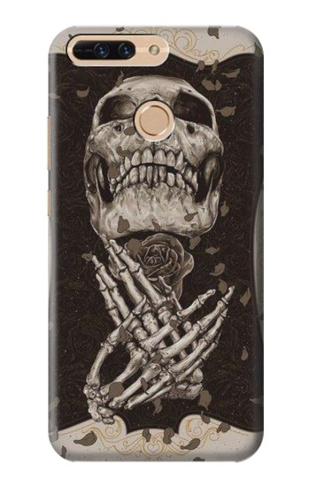 Printed Skull Rose Huawei Ascend MATE7 Case