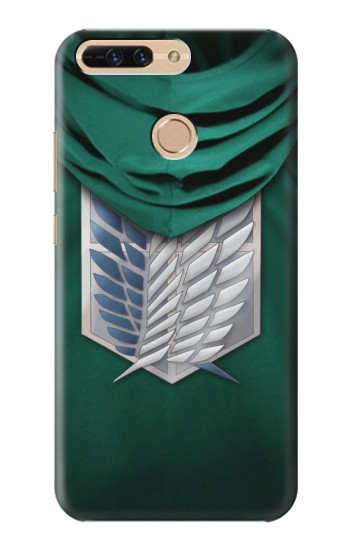 Printed Attack on Titan Scouting Legion Rivaille Green Cloak Huawei Ascend MATE7 Case