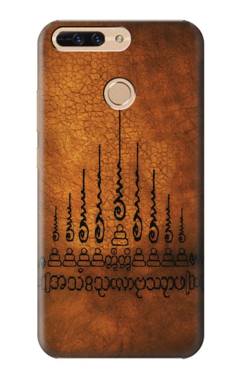 Printed Sak Yant Yantra Gao Yord The 9 Spires of Protection Tattoo Huawei Ascend MATE7 Case