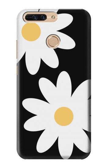 Printed Daisy White Flowers Huawei Ascend MATE7 Case