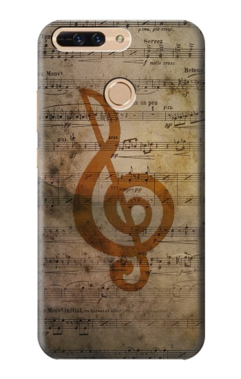 Printed Sheet Music Notes Huawei Ascend MATE7 Case