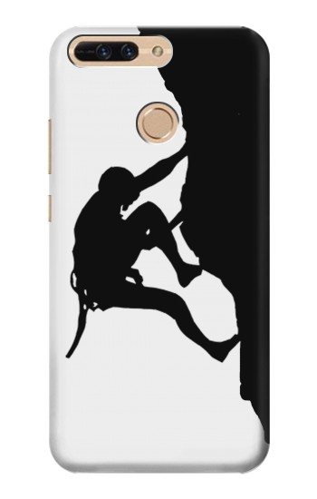 Printed Mountain Climber Climbing Huawei Ascend MATE7 Case
