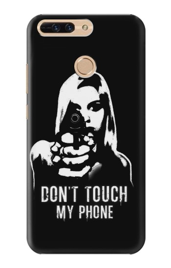 Printed Girl Do Not Touch My Phone Huawei Ascend MATE7 Case