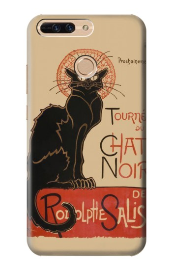 Printed Chat Noir The Black Cat Huawei Ascend MATE7 Case