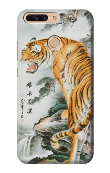 Printed Chinese Tiger Painting Tattoo Huawei Ascend MATE7 Case