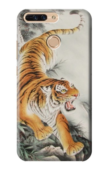 Printed Chinese Tiger Tattoo Painting Huawei Ascend MATE7 Case