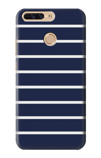 Printed Navy White Striped Huawei Ascend MATE7 Case
