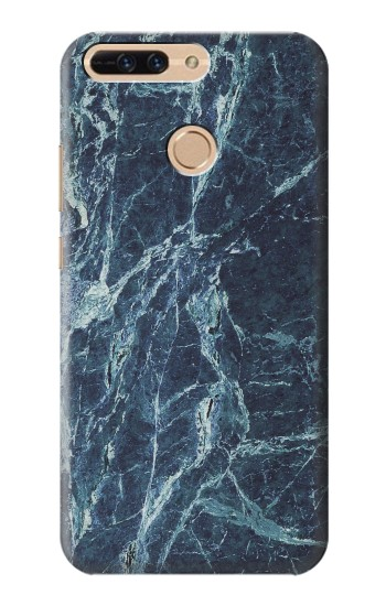 Printed Light Blue Marble Stone Texture Printed Huawei Ascend MATE7 Case