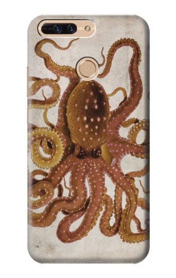 Printed Vintage Octopus Huawei Ascend MATE7 Case