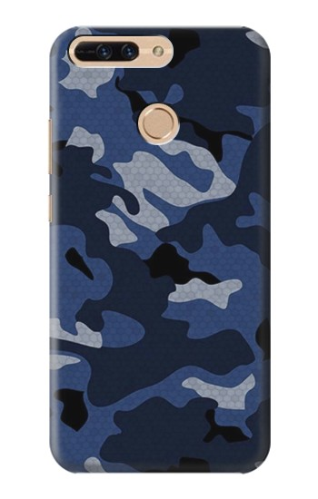 Printed Navy Blue Camouflage Huawei Ascend MATE7 Case