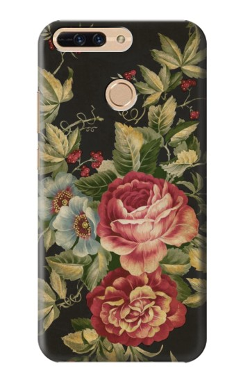Printed Vintage Antique Roses Huawei Ascend MATE7 Case