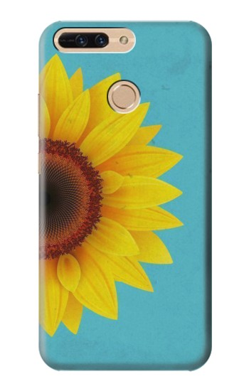 Printed Vintage Sunflower Blue Huawei Ascend MATE7 Case