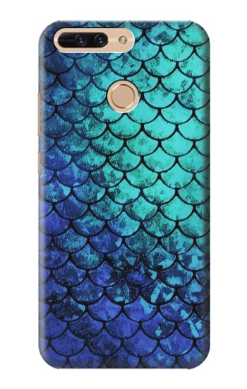 Printed Green Mermaid Fish Scale Huawei Ascend MATE7 Case