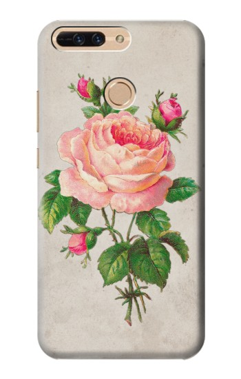 Printed Vintage Pink Rose Huawei Ascend MATE7 Case