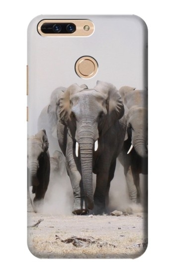 Printed African Elephant Huawei Ascend MATE7 Case