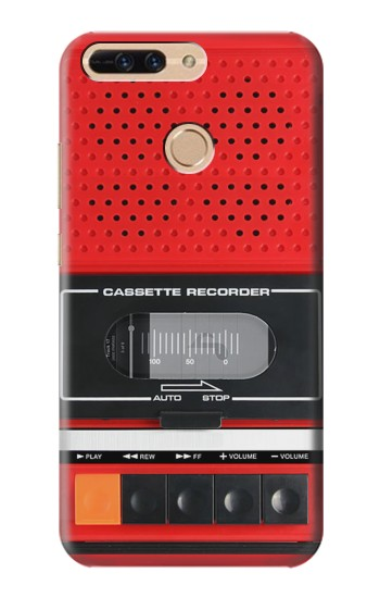 Printed Red Cassette Recorder Graphic Huawei Ascend MATE7 Case
