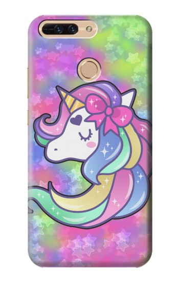 Printed Pastel Unicorn Huawei Ascend MATE7 Case