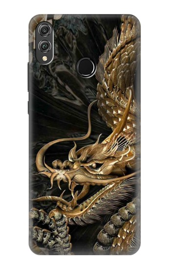 Printed Gold Dragon Huawei Honor 8X Case