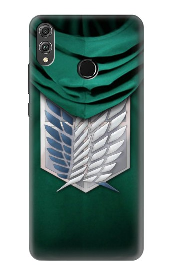 Printed Attack on Titan Scouting Legion Rivaille Green Cloak Huawei Honor 8X Case