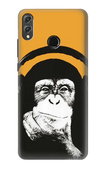 Printed Funny Monkey with Headphone Pop Music Huawei Honor 8X Case