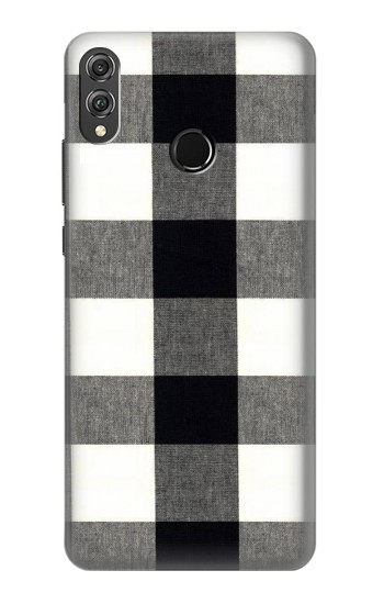 Printed Black and White Buffalo Check Pattern Huawei Honor 8X Case