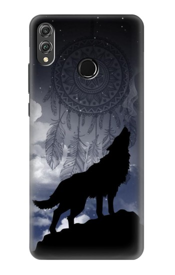 Printed Dream Catcher Wolf Howling Huawei Honor 8X Case
