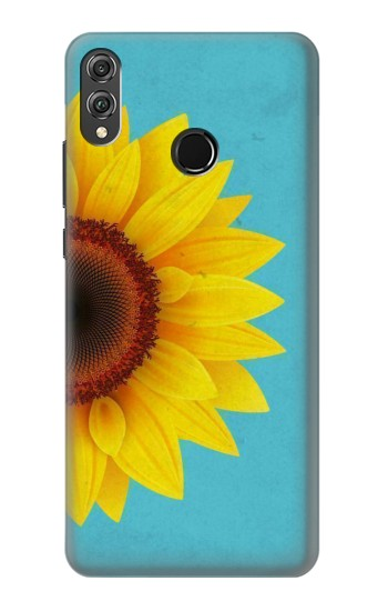 Printed Vintage Sunflower Blue Huawei Honor 8X Case