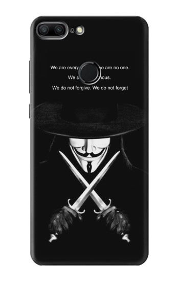 Printed V Mask Guy Fawkes Anonymous Huawei Honor 9 Lite Case