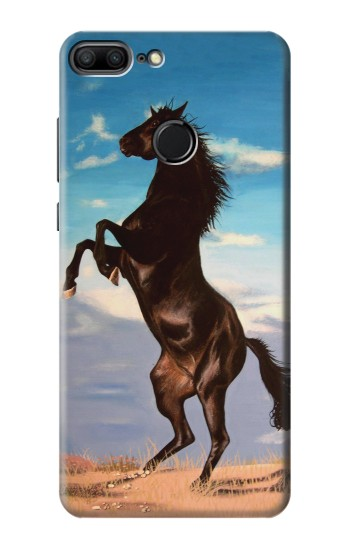Printed Wild Black Horse Huawei Honor 9 Lite Case