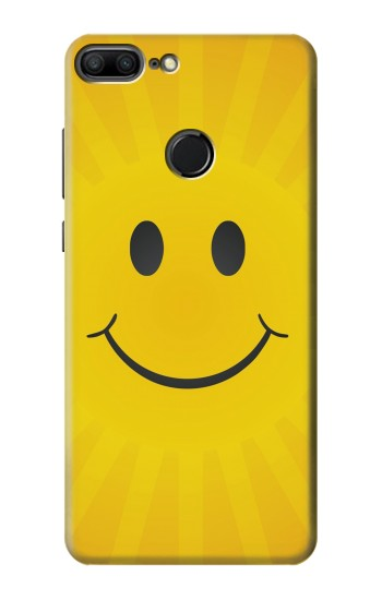 Printed Yellow Sun Smile Huawei Honor 9 Lite Case