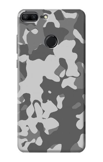 Printed Gray Camo Camouflage Graphic Printed Huawei Honor 9 Lite Case