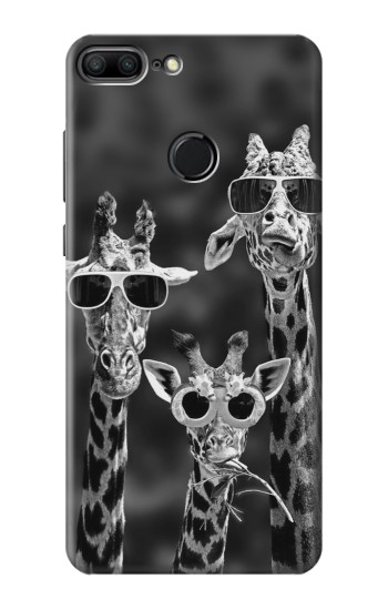 Printed Giraffes With Sunglasses Huawei Honor 9 Lite Case