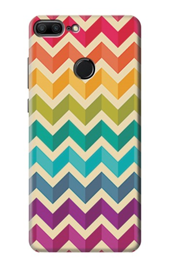 Printed Rainbow Colorful Shavron Zig Zag Pattern Huawei Honor 9 Lite Case