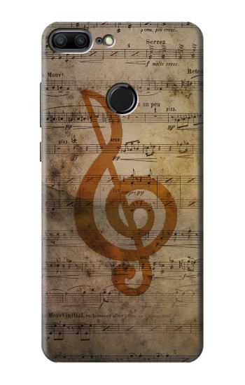 Printed Sheet Music Notes Huawei Honor 9 Lite Case