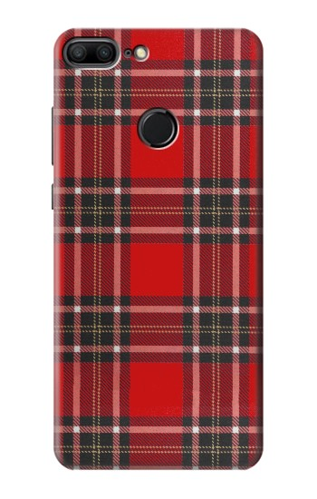 Printed Tartan Red Pattern Huawei Honor 9 Lite Case