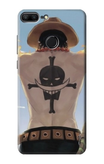 Printed One Piece Ace Back Whitebeard Pirates Tattoo Huawei Honor 9 Lite Case