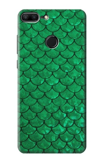 Printed Green Fish Scale Pattern Huawei Honor 9 Lite Case