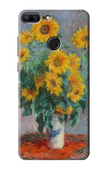 Printed Claude Monet Bouquet of Sunflowers Huawei Honor 9 Lite Case