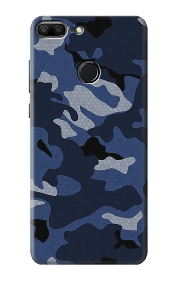 Printed Navy Blue Camouflage Huawei Honor 9 Lite Case