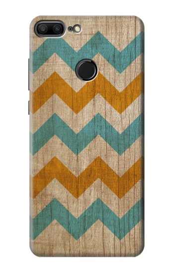 Printed Vintage Wood Chevron Huawei Honor 9 Lite Case