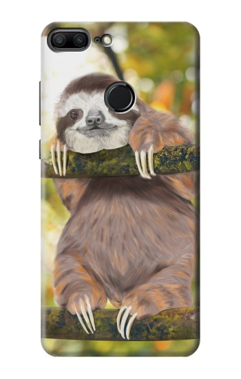 Printed Cute Baby Sloth Paint Huawei Honor 9 Lite Case
