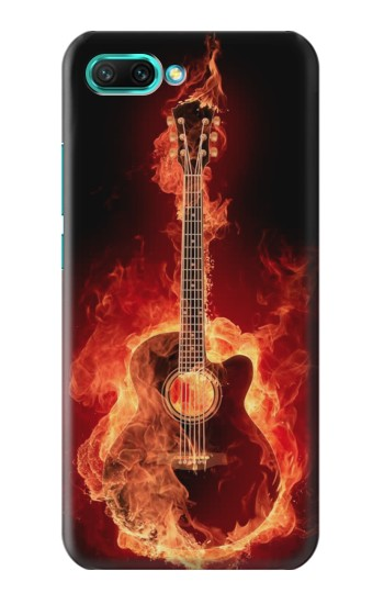 Printed Fire Guitar Burn Huawei Honor 10 Case