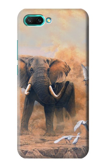 Printed Dusty Elephant Egrets Huawei Honor 10 Case