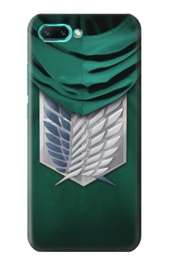 Printed Attack on Titan Scouting Legion Rivaille Green Cloak Huawei Honor 10 Case